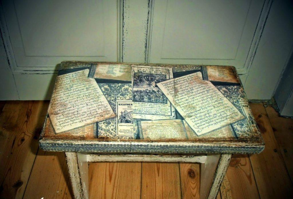 Как задекорировать старый стол своими руками 87