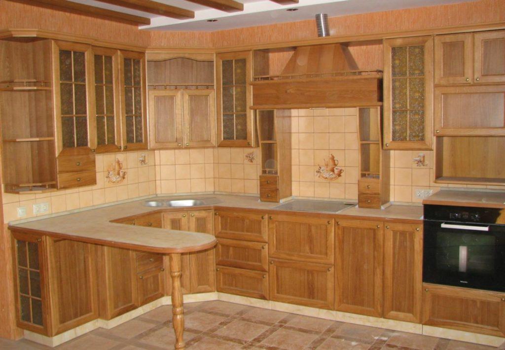 Кухонный гарнитур из мебельных щитов своими руками 57