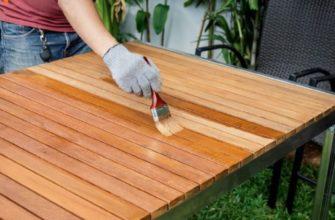 Чем покрасить стол из дерева