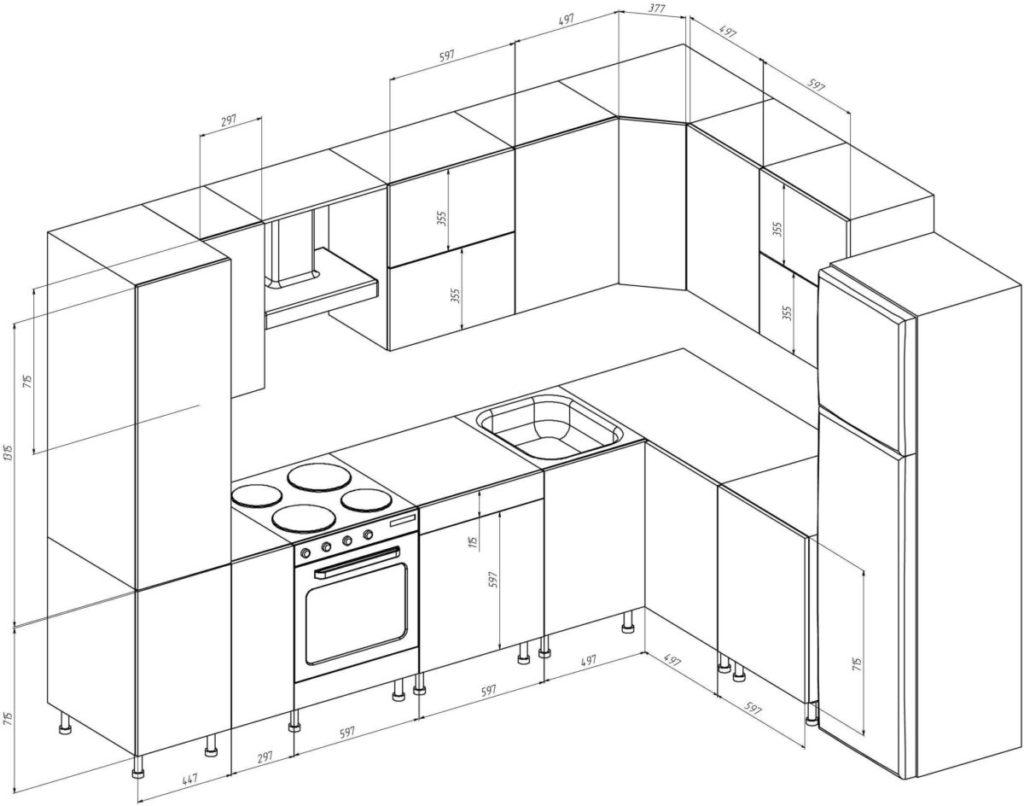 Кухни своими руками чертежи с размерами фото 10