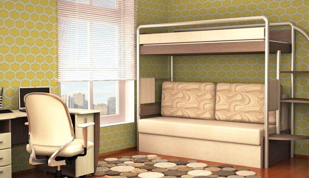 рабочий кровать двухъярусная с диван-кроватью картинки государств