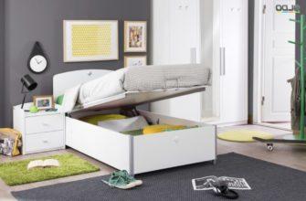 Кровать односпальная с подъемным механизмом