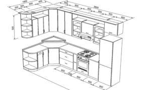 Как рассчитать угловой шкаф