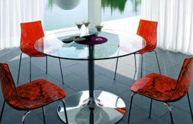 Круглый стол на кухню: виды стеклянных столов