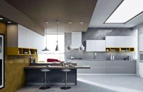 Освещение на кухне в современном стиле