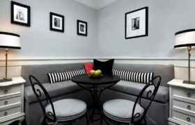 Расположение дивана на кухне