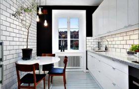 Выбор формы стола для маленькой кухни