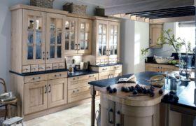 Дизайн шкафов для посуды на кухню
