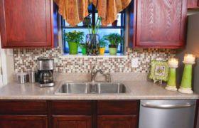 Фартук на кухню из мозаичной плитки