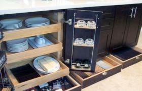 Глубина напольных кухонных шкафов