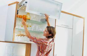 Крепление кухонных шкафов на планку