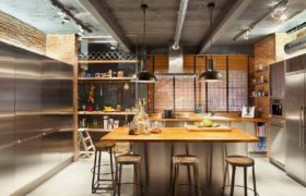 Кухня в стиле лофт — фото: идеи дизайна, декор и оформление