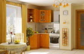 Материал изготовления углового шкафа для кухни