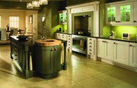 Мебель для оливковой кухни
