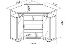 Замеры и чертеж угловых кухонных шкафов