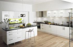 Белые кухни из пластика