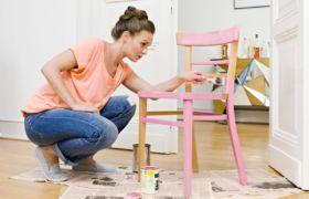 Декупаж стула в технике винтаж