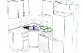 Размеры напольных шкафов