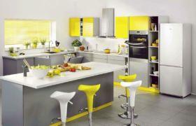 Серая кухня в тандеме с другими цветами
